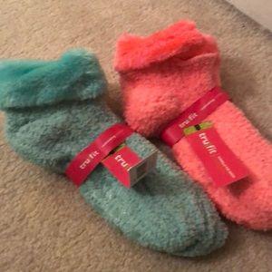 Accessories - Mint & Pink slipper sock NWT